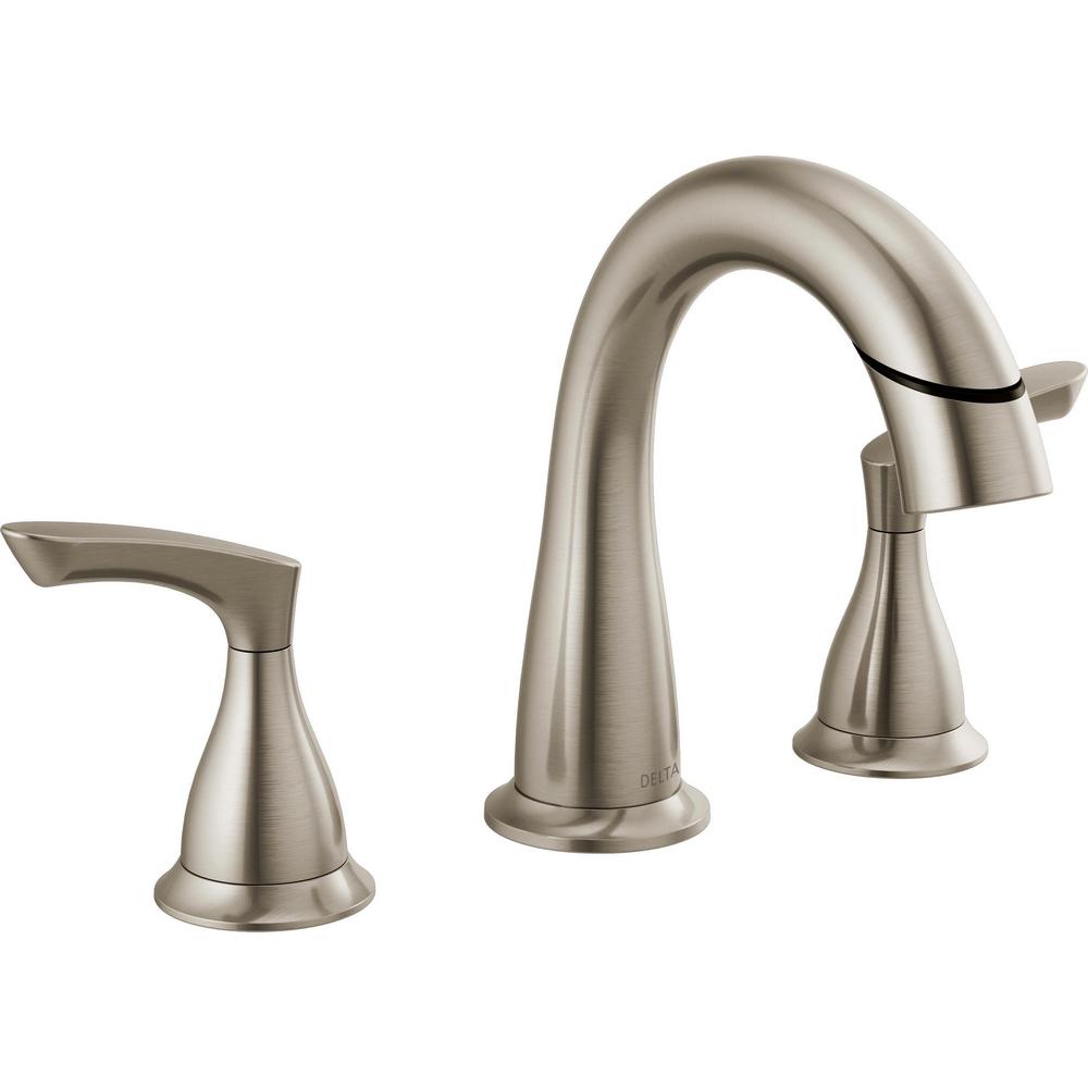 Two Handle Widespread Pulldown Bathroom Faucet