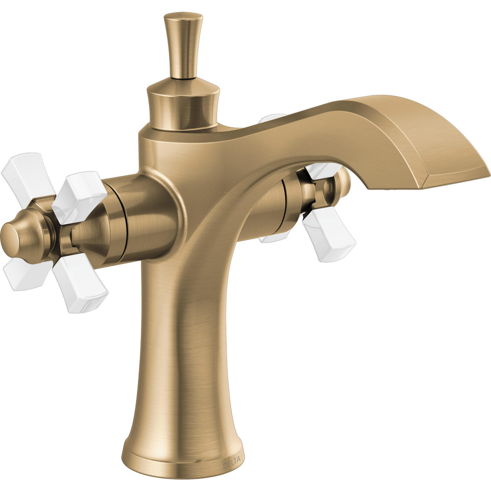 Two Handle Single Hole Monoblock Bathroom Faucet