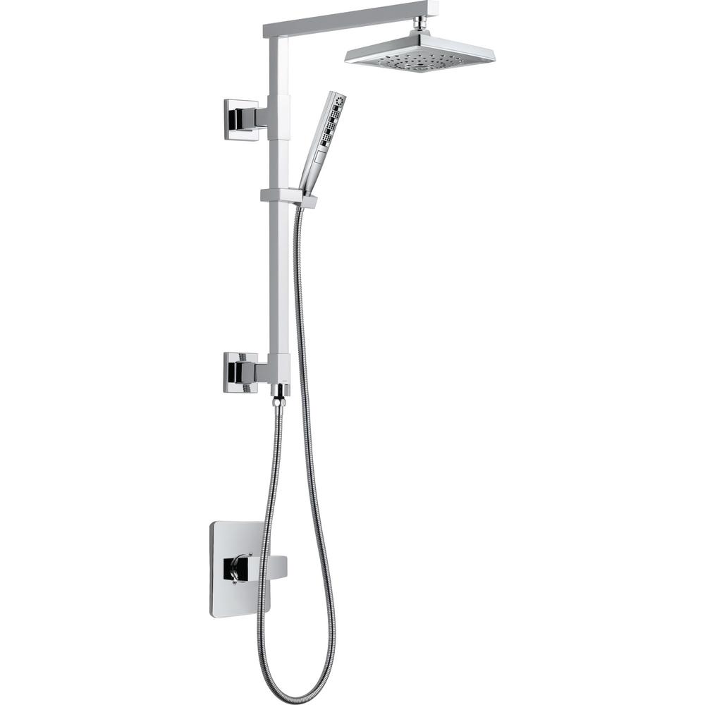 Angular Modern 18 inch Shower Column Kit