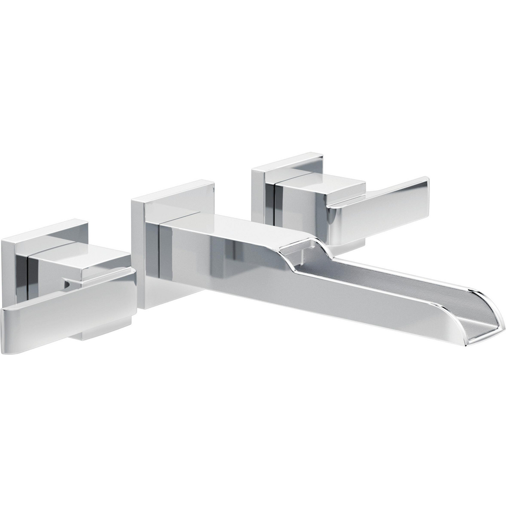 Two Handle Wall Mount Channel Bathroom Faucet Trim